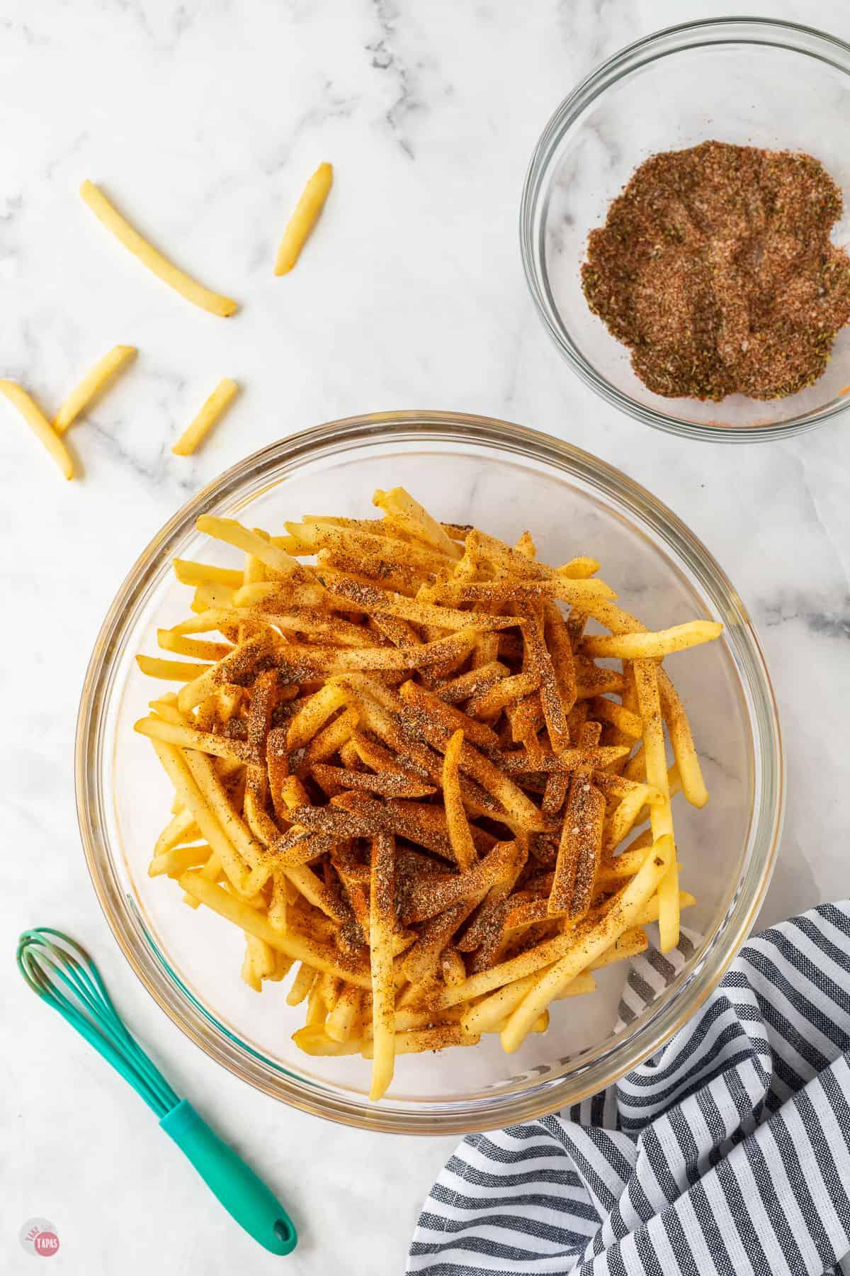 seasoned fries in a bowl