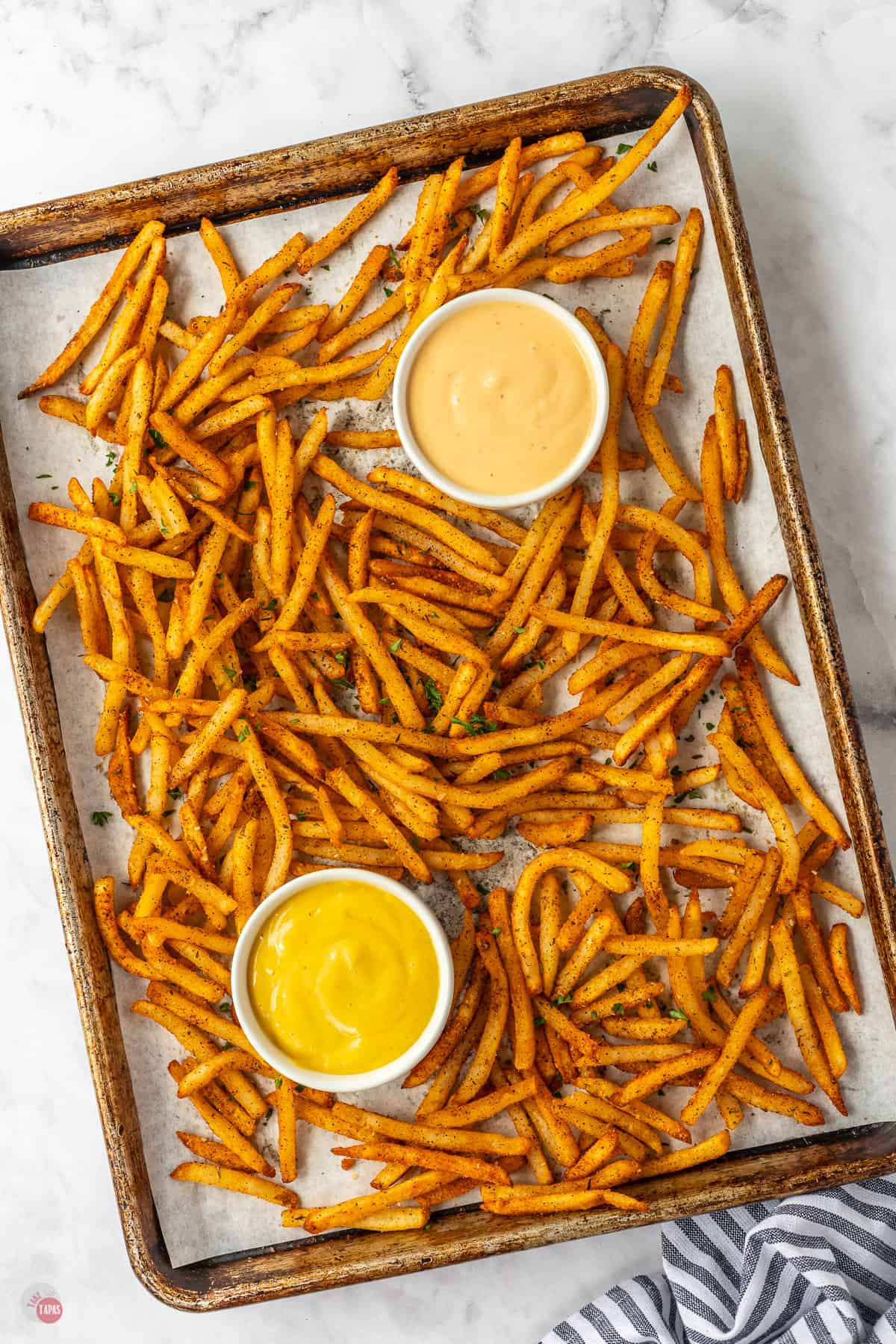 fries on a pan