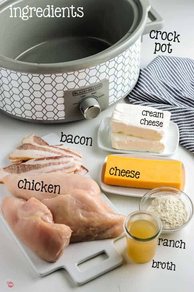 labeled picture of ingredients for crack chicken