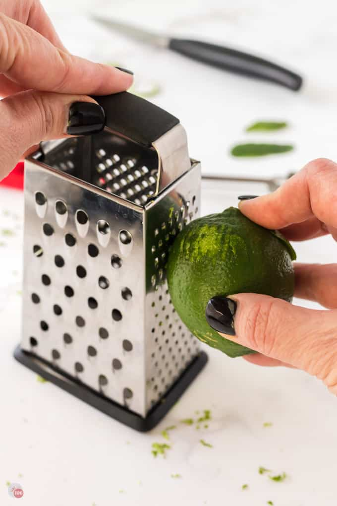 lime on a box grater