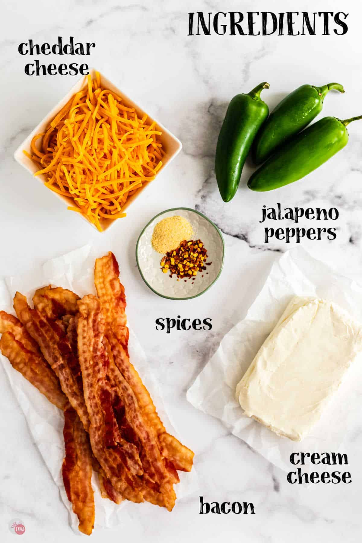 labeled ingredients for jalapeno poppers