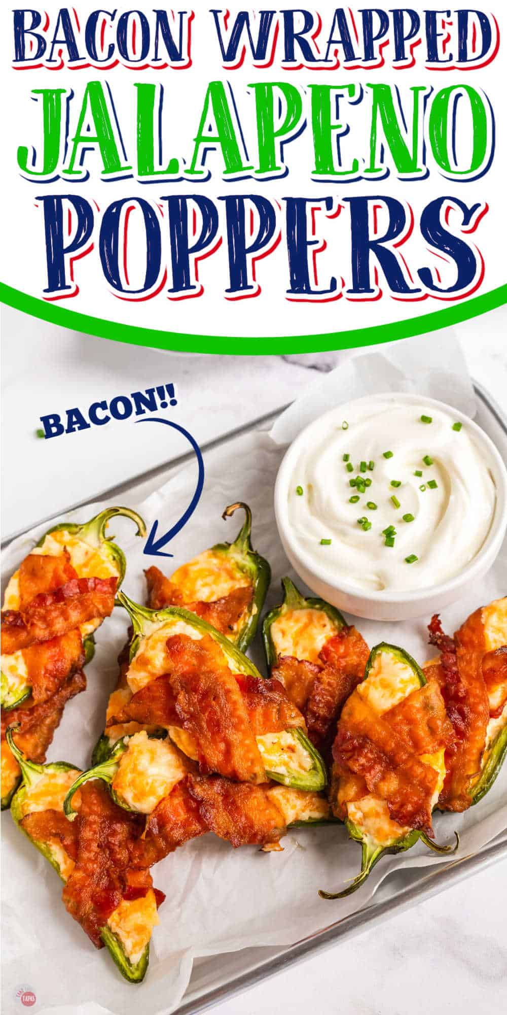 jalapeno poppers and a bowl of sour cream
