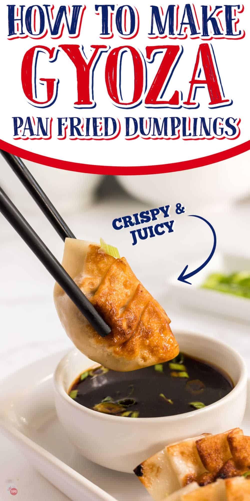 chopsticks holding dumpling