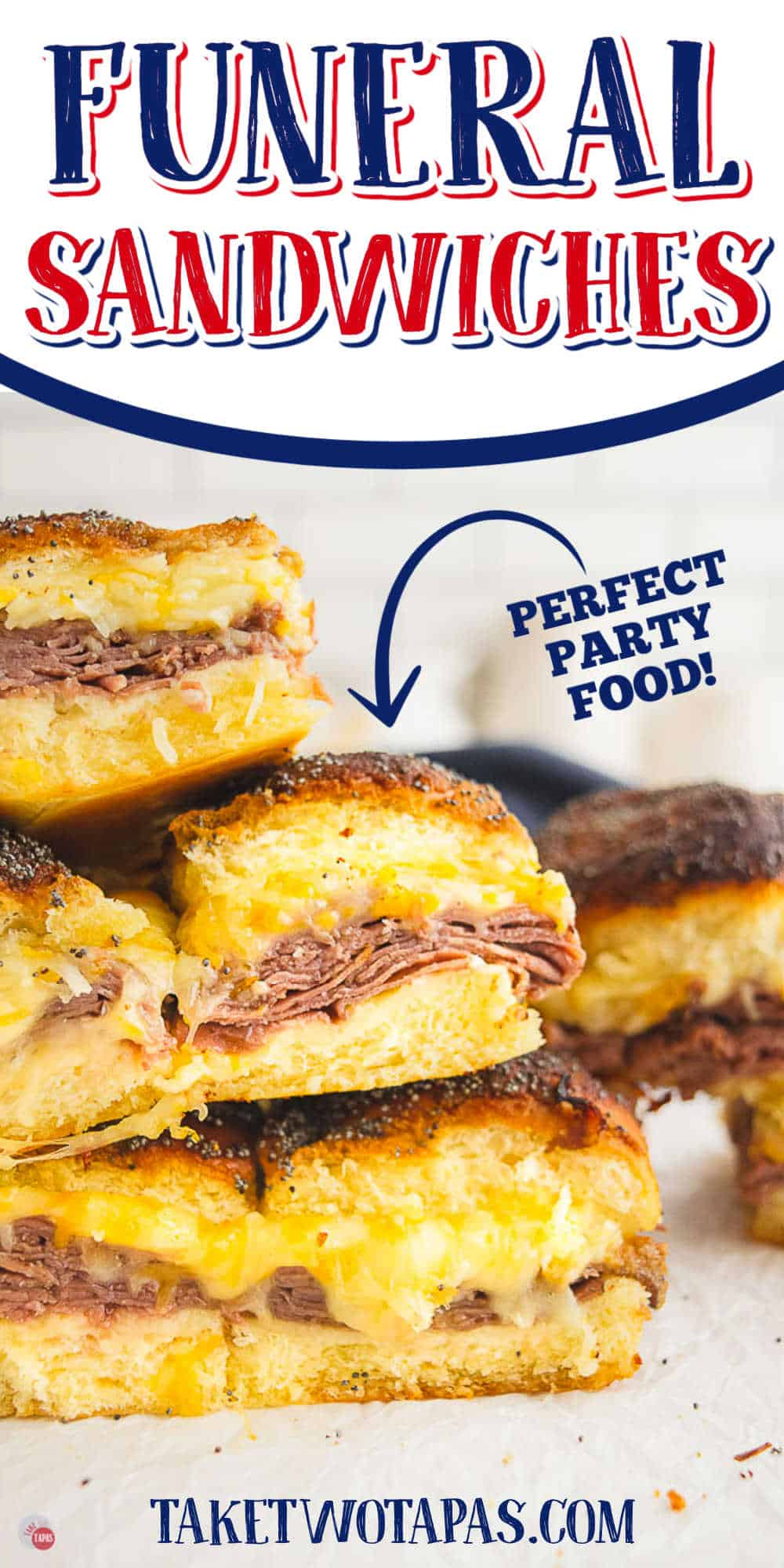 """sliders with text """"the best roast beef sliders around"""""""