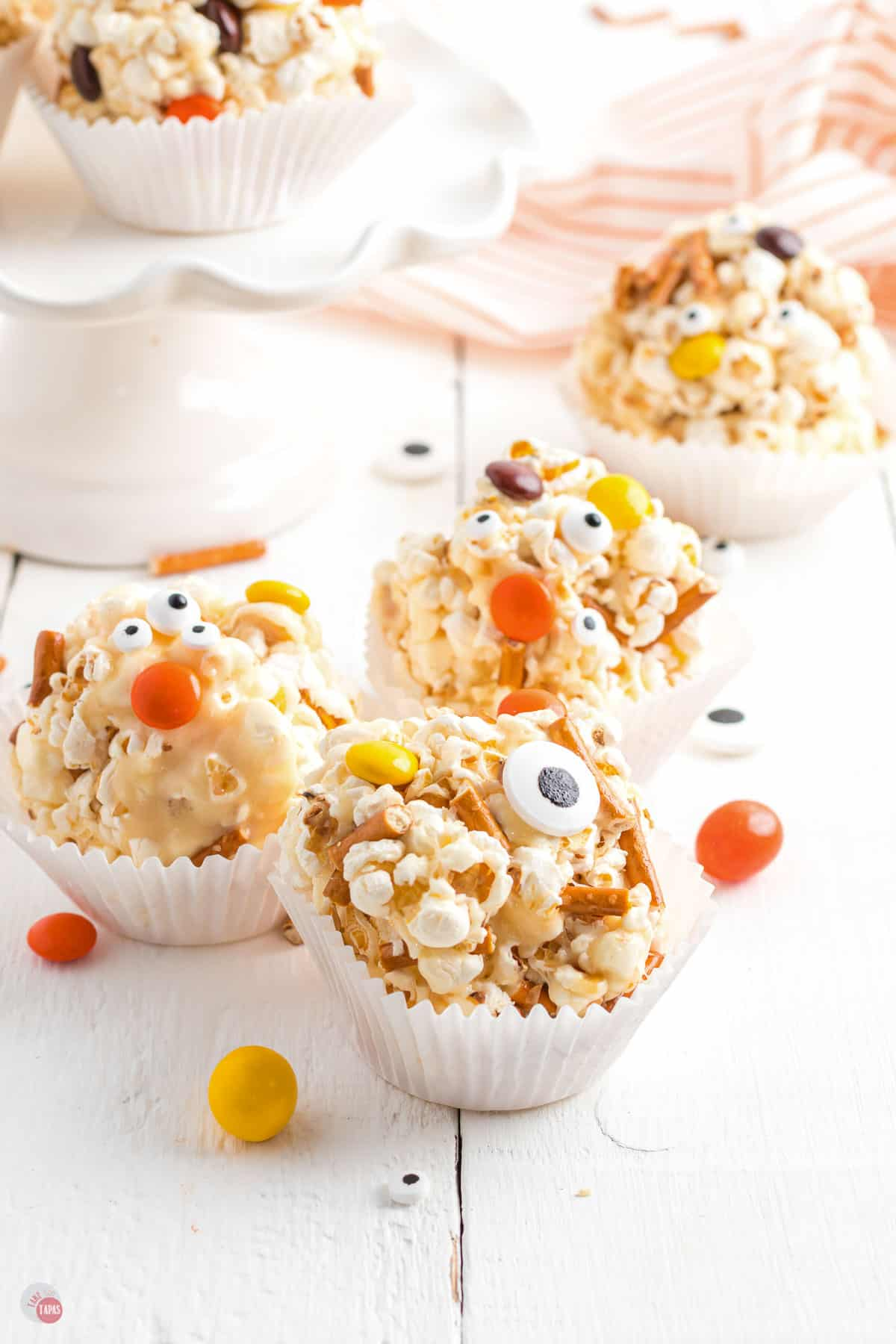 popcorn balls in cupcake liners