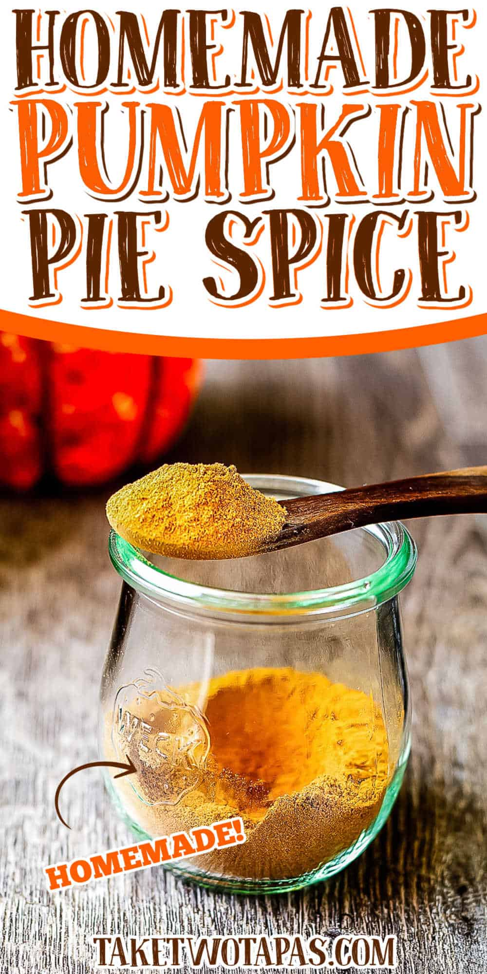 """Pinterest Pin text """"pumpkin pie spice"""""""