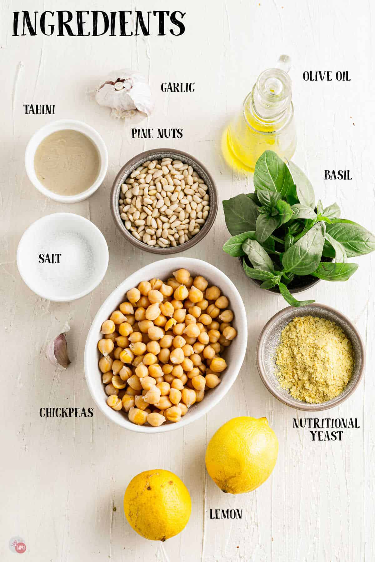 labeled picture of hummus ingredients