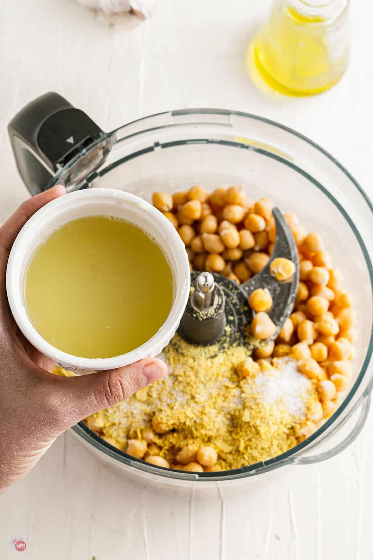 lemon juice in a food processor