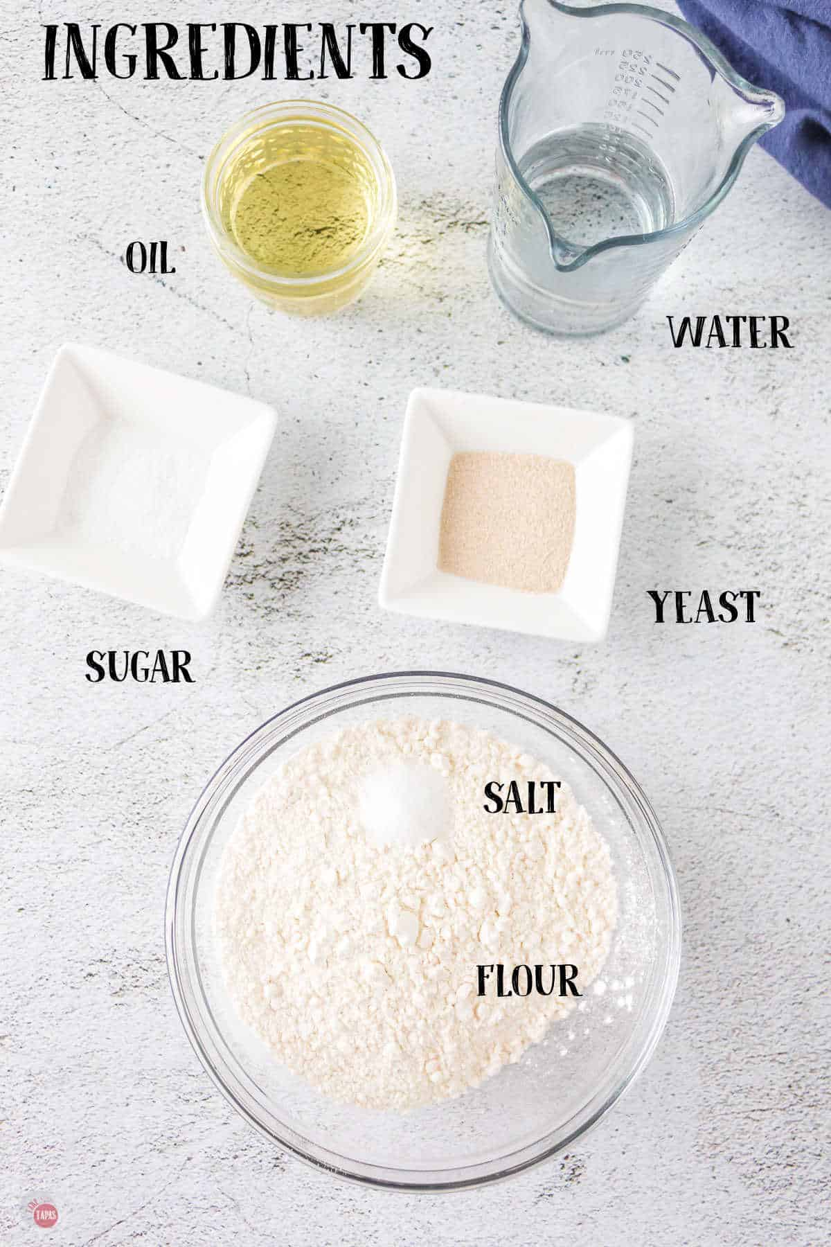 labeled picture of pretzel ingredients