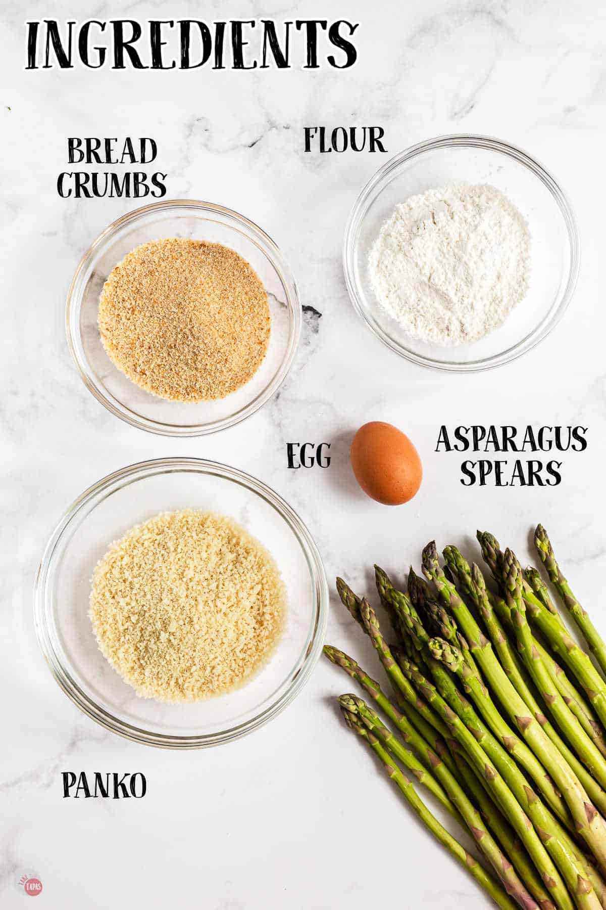 labeled picture of asparagus fry ingredients