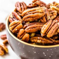bowl of toasted pecans